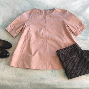 Dusty pink cotton blouse